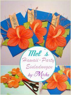 Einladungen zur Hawaii Party
