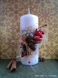 Sinnamon: Творю, что хочу!: Новогодний декор свечей