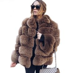 e3dd82afdb93c High Quality Thicken Pink Faux Fur Coat  jackets  Plus  Size  Stand