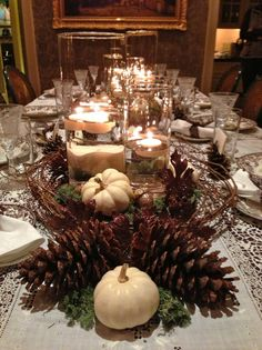 Fall Décor Ideas Blissfully Colorful  Thanksgiving Table Stunning Fall Dining Room Table Centerpieces Design Ideas