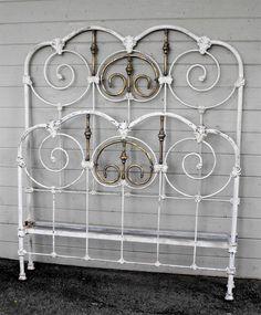 Antique Bed Frames Metal | Antique Iron Bed #12