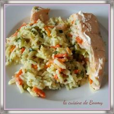 Pavé de saumon et sa julienne de légumes au riz (Cookeo)
