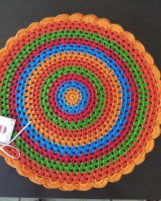 Ideas Crochet Rug Mandala Beautiful For 2019 Crochet Mandala Pattern, Granny Square Crochet Pattern, Crochet Flower Patterns, Crochet Shawl, Crochet Doilies, Crochet Flowers, Crochet Stitches, Knit Crochet, Love Crochet