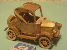 OK Wooden Car, Wooden Toys, 3d Puzzles, Ale, Crafts, Stencils, Garage, Funny, Ideas