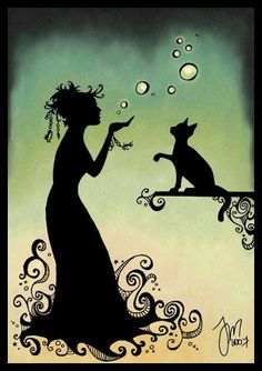 A #Witch and her familiar.