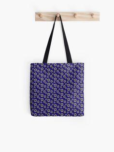 Blue flower print tote bag Sashiko Embroidery, Embroidery Stitches, Printed Tote Bags, Cotton Tote Bags, Flower Patterns, Flower Designs, Japanese Patterns, Japanese Architecture, Blue Backgrounds