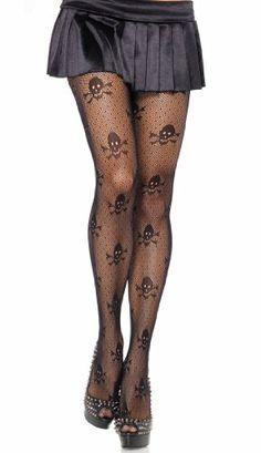 Leg Avenue Women's Micro Net Skull Print Pantyhose, Black, One Size Leg Avenue,http://www.amazon.com/dp/B006ZVYSVU/ref=cm_sw_r_pi_dp_tU3ntb1X1A0FN612