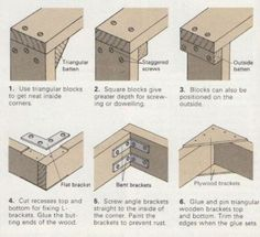 3 way joints - 6 ways to make corners