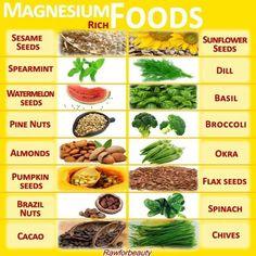 Net als calcium is magnesium in de overgang van de vrouw ook belangrijk. Op deze foto zie je waar het o.a. allemaal in zit.