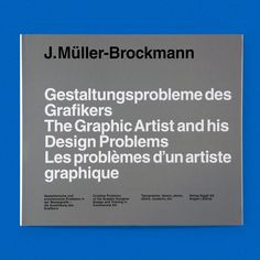 The Graphic Artist and His Design Problems / Available at www.draw-down.com / This book by Josef Müller-Brockmann aimed to solve the graphic designers problem of finding the appropriate contemporary form. It became a standard work that still serves as a historic practical guide well beyond the boundaries of Switzerland. This edition is an unabbreviated reconstruction of the original edition of 1961 a hardcover with jacket. It includes the additions made by Josef Müller-Brockmann himself for…