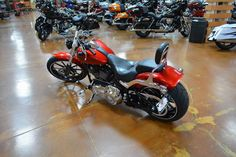 Used 2013 Harley-Davidson Softail® Breakout® Motorcycles For Sale in Nevada,NV. Big wheels, big paint and classic drag-bike attitude meets premium modern refinement in this all-new attention-grabbing performance cruiser. The new 2013 Harley-Davidson® FXSB Softail® Breakout® is a premium custom cruiser that mixes premium features, fit and finishes with a wide, muscular, stance and slammed, low-slung power profile inspired by classic Gasser dragsters of the 1950s and 1960s. The…