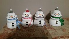 Glass insulators as snowmen