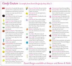 Candy Couture Style Glossary {Sneak Peek Inside Book} | Amy Atlas Events