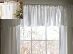 Easy No Sew Window Valance Tutorial:: Go on, get crafty! LOVE!!!