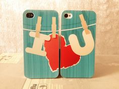 (7) Fancy - Cute Couple IPhone 4 Case, I Love You Iphone 4 Hard Case,blue Iphone 4 Case,heart IPhone 4 Case on Luulla