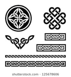 Buy Celtic Knots, Braids and Patterns - Vector by RedKoala on GraphicRiver. Set od traditional Celtic symbols in black FEATURES: Vector Shapes All groups have names All elements are easy t. Tattoo Band, Knot Tattoo, Celtic Symbols, Celtic Art, Celtic Heart Knot, Celtic Knots, Design Celta, Armband Tattoo Meaning, Celtic Border