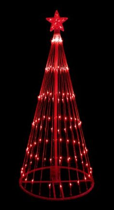 NorthLight 6 ft. Red LED Light Show Cone Christmas Tree Lighted Yard Art Decoration