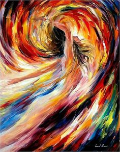In The Vortex Of Passion PALETTE KNIFE Figure by AfremovArtStudio