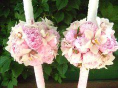 lumanari nunta ornate cu bujori Wedding Ideas, Candles, Weddings, Rose, Flowers, Plants, Pink, Wedding, Candy