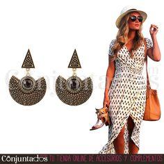 Le vas a sacar mucho partido este verano a los #pendientes Quena ★ 12,95 € en http://www.conjuntados.com/es/pendientes/pendientes-largos/pendientes-de-estilo-etnico-quena.html ★ #novedades #earrings #conjuntados #conjuntada #joyitas #lowcost #jewelry #bisutería #bijoux #accesorios #complementos #moda #fashion #fashionadicct #picoftheday #outfit #estilo #style #GustosParaTodas #ParaTodosLosGustos