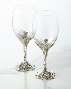 H8PLR Arthur Court Designs Grape Wine Glasses, Set of 2
