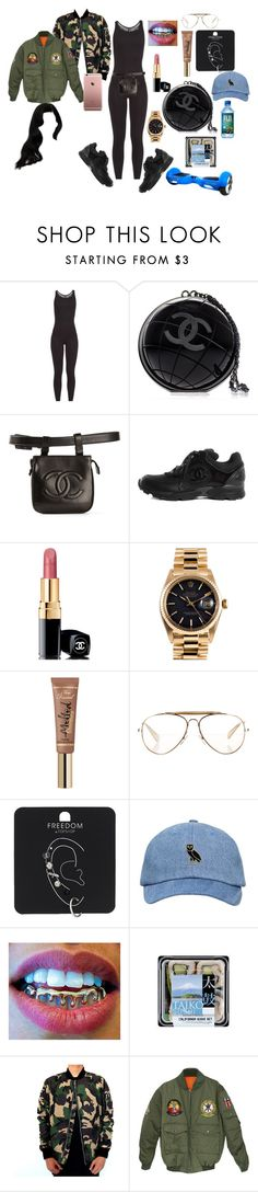 """""""Untitled #416"""" by uniquee28 on Polyvore featuring Ultracor, Chanel, Rolex, CÉLINE and Topshop"""
