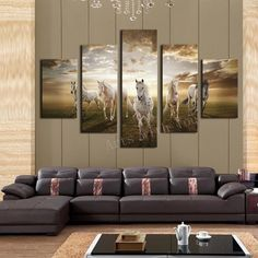 Unframed 5 pcs High Quality Cheap Art Pictures Running Horse Large HD Modern Home Wall Decor Abstract Canvas Print Oil Painting(China (Mainland)) Horse Canvas Painting, Oil Painting Abstract, Abstract Canvas, Canvas Paintings, Painting Art, Framed Canvas Prints, Canvas Frame, Canvas Wall Art, Home Wall Decor