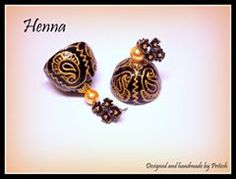 carving quilling jhumka earring