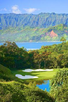 Makai Golf Course, Princeville at Hanalei, Kaui, Hawaii. #golf #kauai #hawaii