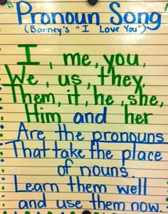 Pronoun Song Grammer