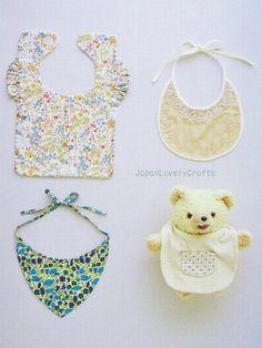 Handmade Baby Clothes & Zakka Goods - Japanese Sewing Pattern Book for Babies - Chiharu Okuyamab - cute bibs