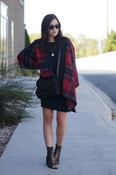 How I got away with wearing a plaid blanket last week.