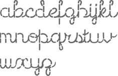 Imgs For > Cross Stitch Cursive Letters