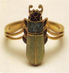 Beetle Art Nouveau Engagement Ring by Rene Lalique