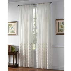 The Almada Sheer Window Curtain from Callisto Home gives your windows a modern update, with delightful velvet chevron embroidery that imparts light and airy elegance in any living space.