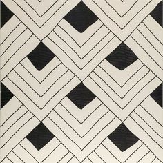 """Featured product on Luxe's 6 Home décor Items You Need Right Now""""! Tangle Fish Black & White Matte Tile by Artistic Tile 
