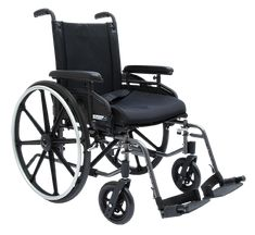 "Pride Stylus LS Wheelchair 18"" W 16"" D Adjustable Arms Swingaway Footrests"