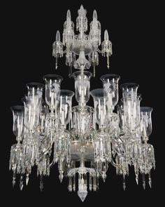 A VICTORIAN CUT-GLASS CHANDELIER, CIRCA 1870, 208cm. high, 139.7cm. diameter, 6ft. 10in., 4ft. 7in