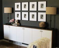 Ikea Credenza Floating : B diy home floating credenza from ikea beverly bleu