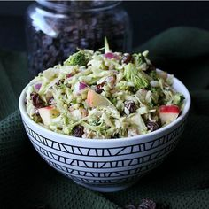 Vegan Apple Broccoli Salad has everyone's favorite vegetables and fruits. You throw everything in a bowl then pour on the slightly sweet and tangy dressing.