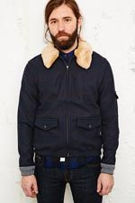 Native Youth Sherpa Wool Collar Flight Jacket at Urban Outfitters Urban Outfitters, How To Make, How To Wear, Men Sweater, Bomber Jacket, Winter Jackets, Wool, Sweaters, Clothes