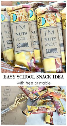 EASY SCHOOL SNACK IDEA WITH FREE PRINTABLE