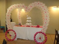 Asombrosa decoración con Globos #Boda, #IdeasOriginales ...