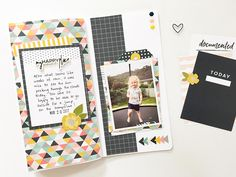 Hi everyone! Mandy back with you today to share another traveler's notebook spread that I created using the stunning Caroline kit! I'm totally loving the differ