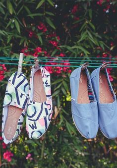 Curing the post-festival blues with new TOMS shoes.