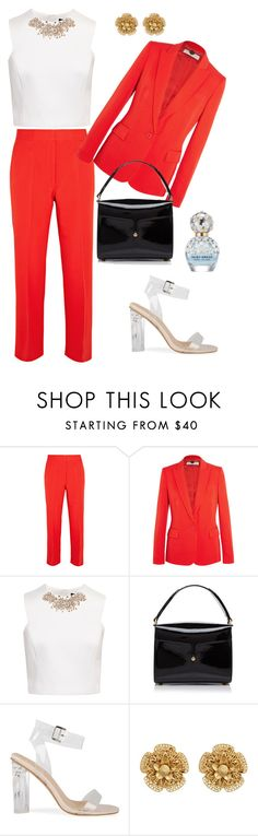 """""""😳"""" by chocolate-dccxx ❤ liked on Polyvore featuring STELLA McCARTNEY, Ted Baker, Marc Jacobs and Miriam Haskell"""