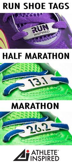"""Show your love for running with this unique, RUN INSPIRED, 13.1 & 26.2 shoe tag or shoe charm. You have accomplished the goal—or maybe it is on the horizon! No matter the distance; 5K, 10K, 13.1 half marathon, or 26.2 marathon. """"Wear"""" ever your journey takes you! This unique accessory will be an inspiration to you every time you lace up! Makes the perfect gift for the runners in your life : ) #running"""