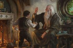 • Illustration lord of the rings the hobbit LOTR gandalf epic Frodo Tolkien J.R.R. Tolkien beautiful art cinemagorgeous •