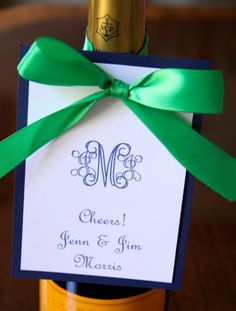 Personalized Wine Tag  Monogram Initial by mccaligiuri on Etsy, $2.00