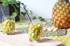 Une recette simple et raffinée qui sera parfaite en entrée. Detox, Pineapple, Fruit, Vegetables, Food, Quick Recipes, Pine Apple, Essen, Eten